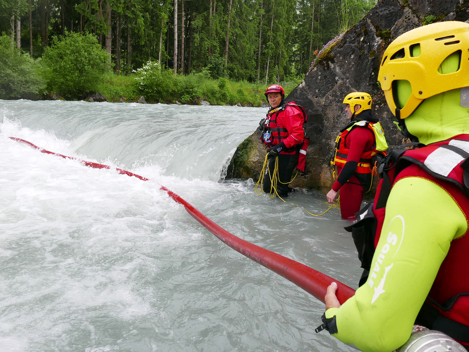 Inflated Firehose / Rescue from bridges