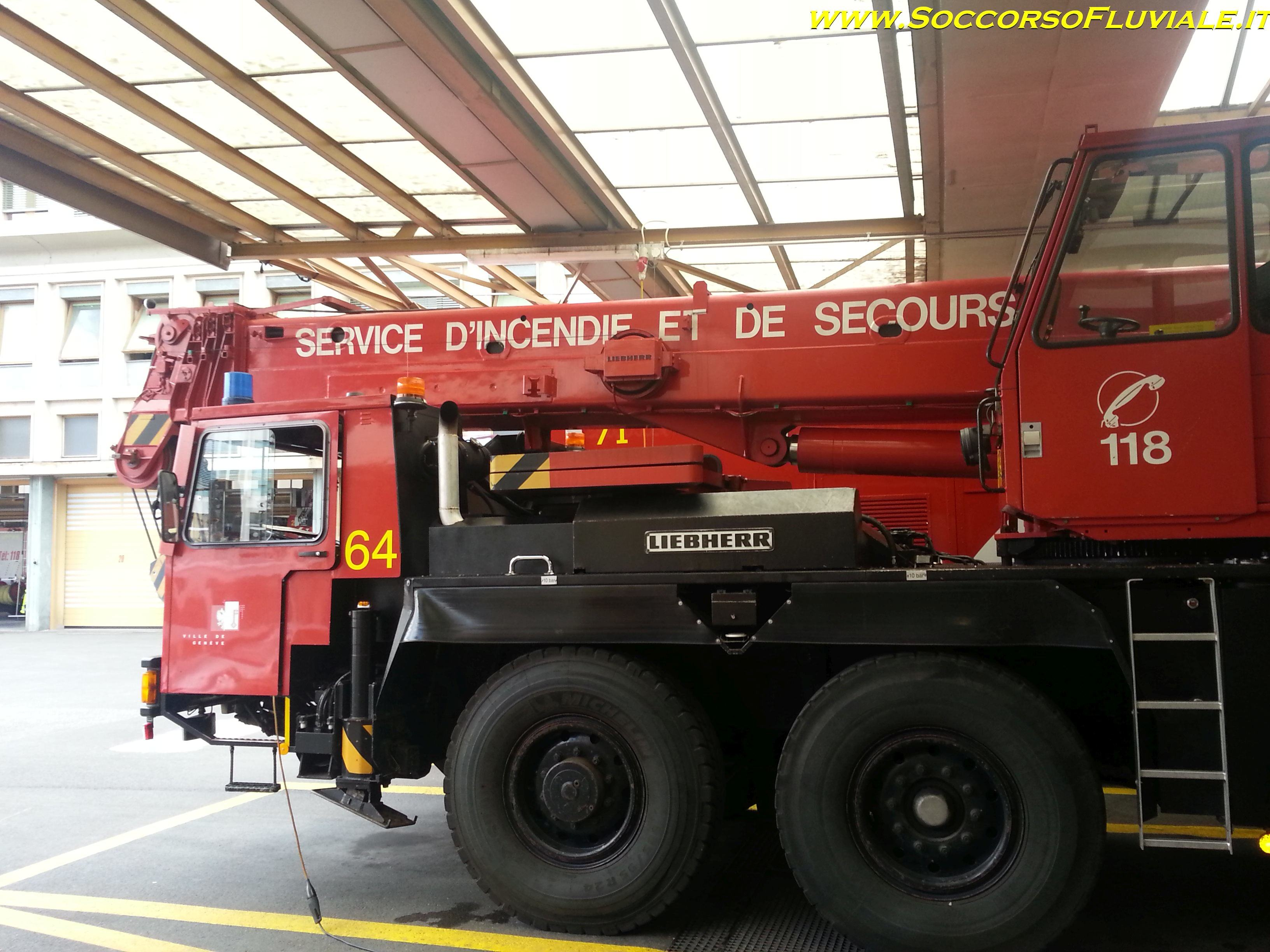swiss fire department truck